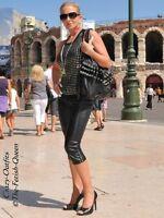 Lederhose Leder Hose Schwarz Caprihose Maßanfertigung