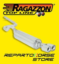 RAGAZZON TUBO E TERMINALE ROTONDI 2x80 SEAT LEON 1.8 TURBO 20V 03/2000 08/2005