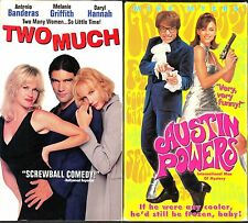 Two Much (VHS, 1996) & Austin Powers: International Man of Mystery (VHS, 1997)