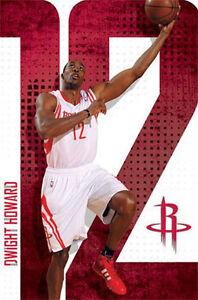 "SPORTS POSTER~Dwight Howard Houston Rockets NBA 23x35"" Original Full Size Print~"