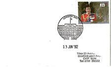 13 JUNE 1992 ROYALTY COVER BUCKINGHAM PALACE LONDON SW1 SHS (c)
