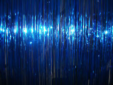 Blue Foil Tinsel Shimmer Curtain Party