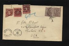Inida to US  with postage due stamps