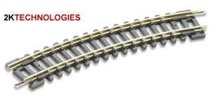 "PECO ST-3 - 6 x No1 Radius 9"" Standard Curve Code 80 Setrack N Gauge - 1st Post"