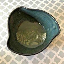 Porcelain Stoneware Blue Handmade Serving Bowl