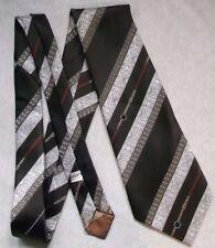 Vintage Tie Mens Wide Necktie Retro Fashion BROWN