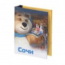 """Mini 2,5"""" Book Russian Sochi Sotschi Olympischer Bär Russisch Buch Magnet Gift"""
