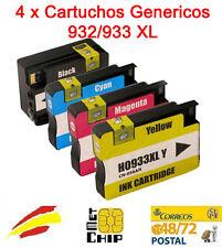 Pack 4 colores Cartucho compatible HP 932 933 XL OfficeJet 6600 6700 Premium