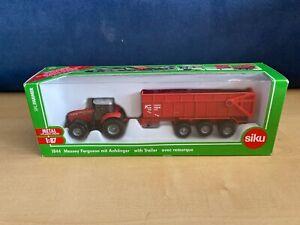 BRAND NEW IN BOX 1844 Siku  Massey Ferguson Tractor WITH Trailer 1:87