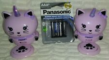 "4� to 5""Set of 2 Pink Unicorn Cat Nail Polish Dryer Fans With New Aaa Batteries"