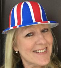 72 UNION JACK BRITISH BOWLER HATS PARTY CELEBRATIONS BRITISH PATRIOTIC EVENTS