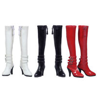 "1/6 Women's Zip Up Long Boots Shoes Accessories for 12"" Female Action Figure"