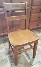 """17"""" Vintage Solid Wood Wooden School Library Student Study Restaurant Chair"""