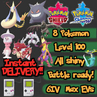 8 Pokemon Bundle GMax Gigantamax Sword Shield / Toxtricity Grimmsnarl 6IV EVs