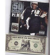 50 CENT - P.i.m.p. - CDs SINGLE 2003 4 TRACKS + BANCONOTA FAC-SIMILE GOOD COND.