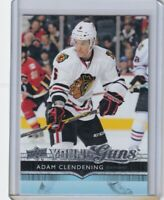 ADAM CLENDENING #481 Young Guns Rookie Upper Deck NHL HOCKEY CHICAGO BLACKHAWKS