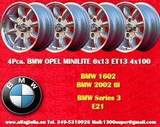 4 Cerchi BMW  VW Minilite 6x13 ET13 4x100 Wheels Felgen Llantas Jantes
