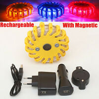 Rechargeable Car Emergency Flash LED Lighting Warning Strobe Light With Magnetic