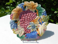 "Fitz & Floyd Essentials Collectors Series Grapes Canape Plate 9"""