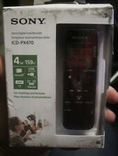 Sony ICD-PX470 Stereo Digital Voice Recorder 4 GB Built-In USB NEW