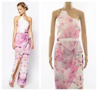 V Label London Thigh Slit Floral Print Maxi Occasion Prom Races Dress