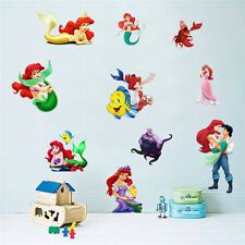 DIY The Little Mermaid Princess Lovely Fishes Wall Sticker Kids Girls Room Decor