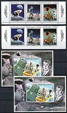 246/SPACE RAUMFAHRT 1970 Tschad Chad Apollo 291-93 A/B + Bl. 6 A/B ** MNH