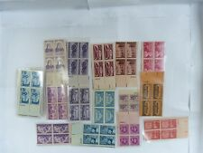 VINTAGE UNITED STATES POSTAGE 3 CENT STAMPS 45 BLOCKS OF 4 180 STAMPS