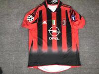 AC MILAN 2004-2005 HOME RETRO SHIRT, KAKA, SHEVCHENKO, PIRLO, Sizes S M L XL