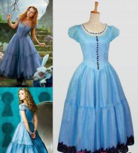 Alice In Wonderland Tim Burton Cosplay Palace Blue Dress