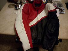 Giubbotto giacca pelle moto da strada tecnico con protezioni Polo TG 48