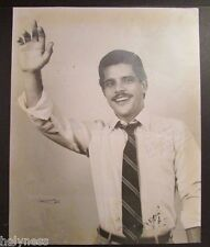 VINTAGE ORIGINAL PHOTO / RAUL CARBONELL HIJO / WAPA TV / SIGNED / PUERTO RICO