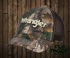 New Wrangler Realtree Camo Mesh Slouch Trucker Snapback Hat Cap