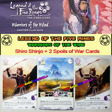 LEGEND OF THE FIVE RINGS L5R LCG - WARRIORS OF THE WING - Shiro Shinjo + 2 promo