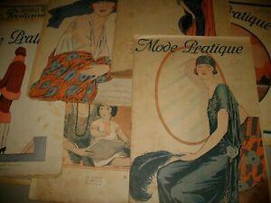 LA MODE PRATIQUE,EVA,GRAZIA LOT ITALY FRANCE  FROM 1907,BOCCASILE,,LOTTO DI 15 !