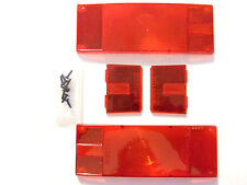 """Tail Lamp Replacement Lens Set - Over 80"""" Low Profile 102641 - Wesbar 403336"""