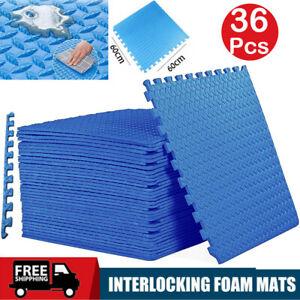 36Pcs Eva Foam Mat Soft Floor Tiles Interlocking Play Kids Baby Mats Gym 60X60cm