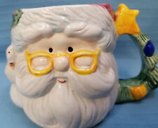 Royal Norfolk Mug Cup Christmas Santa Clause 3D Oversize Coffee Tea Decor