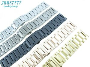26mm Watch Bracelet Stainless Steel Multicolored Brushed Polishing 3 Row Link