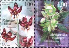Bosnia Herzegovina 2014 Lily/Hellebore/Flowers/Nature/Plants 2v set pr (s6190b)