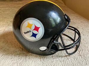 "Pittsburgh Steelers Plastic Football Helmet Franklin 10"" X 6"" X 9"" FREE USA SHIP"