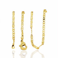 18 k Gold Plated Elegant Chain Lady Necklace for Women Chain 1 mm width N428