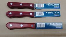 3 pack Tramontina 3 inch Chefs Paring Knife
