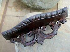 Vintage Lovely Corbel Wall Shelf Bracket Art Wood Handmade Carved Mahogany