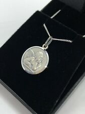 STERLING SILVER 925 ANGEL NECKLACE PENDANT CHAIN LADIES GIRLS BOYS