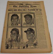 1954 Sporting News Magazine TSN 10/13/54 Word Series Coverage Mays Ex/MT 21927