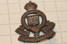 WW2 ERA CANADIAN ARMY CAP BADGE  RCOC ORDNANCE OFFICER  I PRONG MISSING