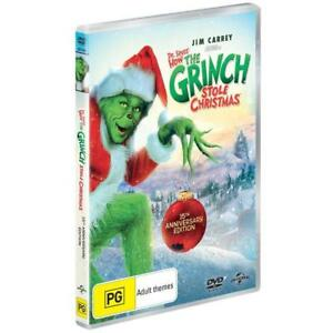 How THE GRINCH Stole CHRISTMAS DVD MOVIES Dr. Seuss 15th Anniversary RARE NEW R4