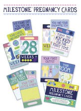 Milestone Pregnancy Cards - Set of 30 Cards, ideal pregnancy gift