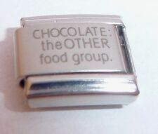 CHOCOLATE THE OTHER FOOD GROUP Italian Charm - 9mm Classic Size I LOVE N256
